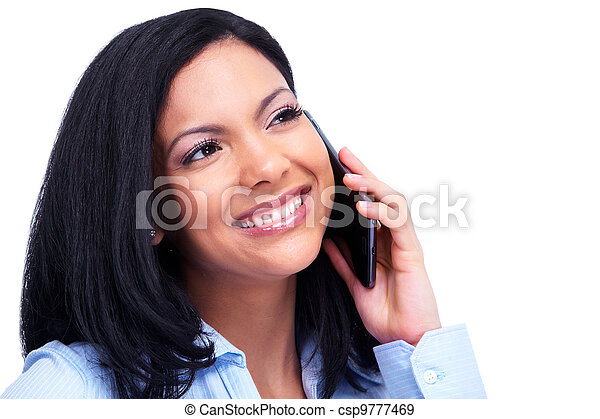Woman calling by phone. - csp9777469