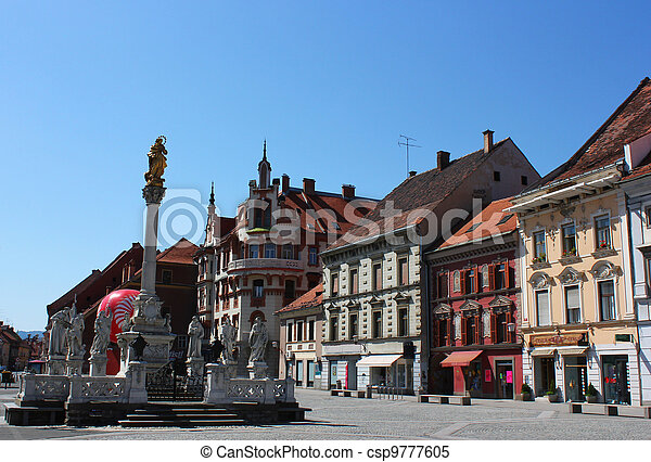 Maribor main square plague monument - csp9777605