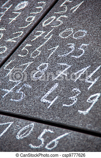 math problem on a pavement - csp9777626