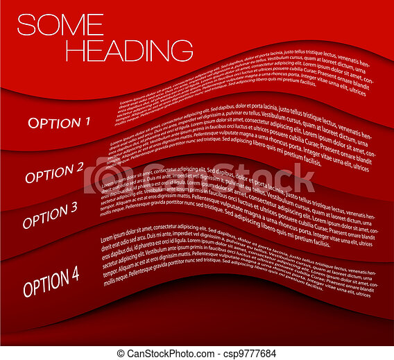 One two three four - vector options background - csp9777684