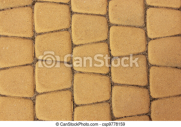 yellow paving stones - csp9778159
