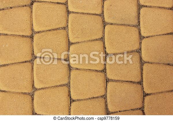 yellow paving stones - csp9778159