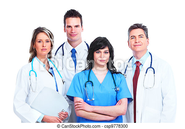 Medical doctors group. - csp9778300
