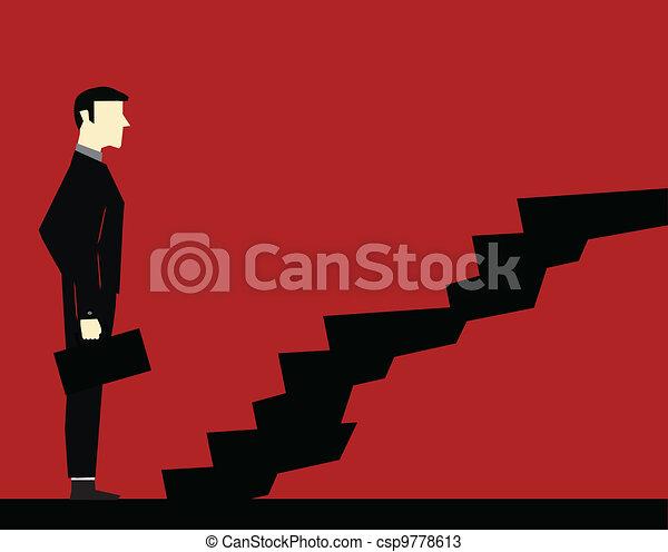 Businessman Stair - csp9778613