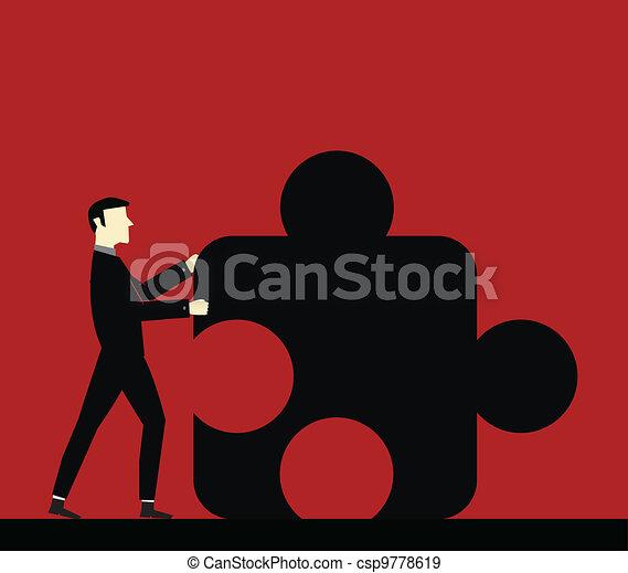 Businessman Cooperation - csp9778619
