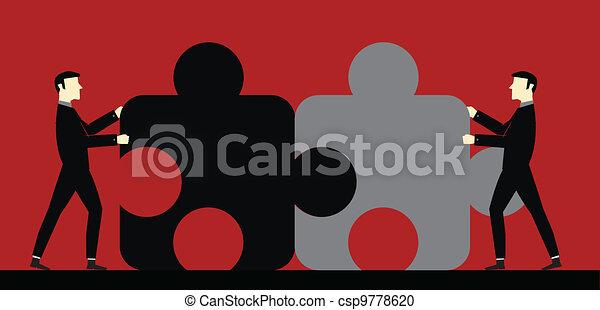 Businessman Cooperation - csp9778620