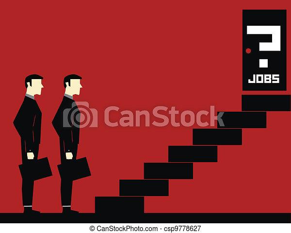 Waiting Jobs Businessman  - csp9778627