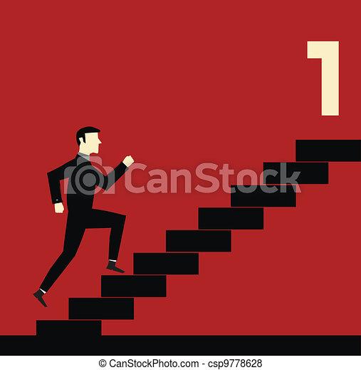 Businessman Stair - csp9778628