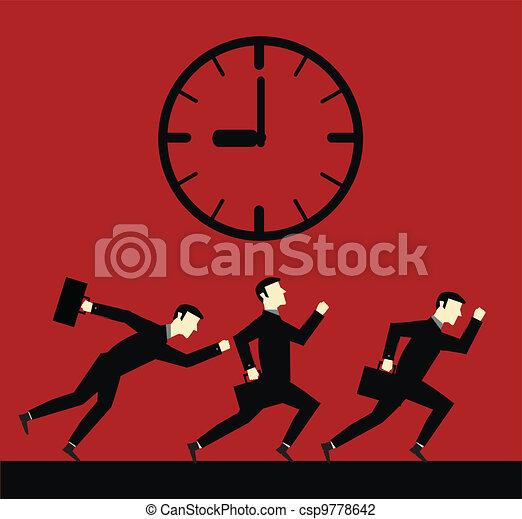 Businessman Running Time  - csp9778642