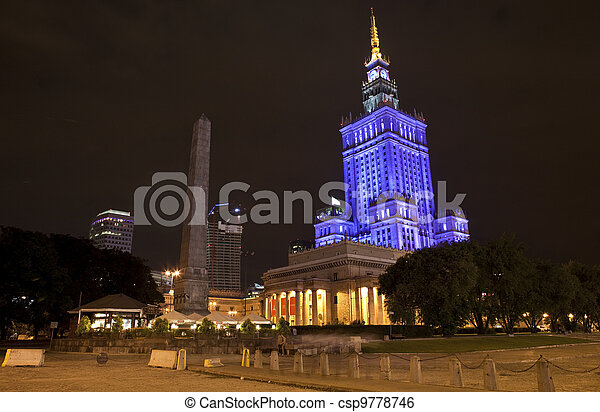 Palace of Culture and Science in Warsaw - csp9778746