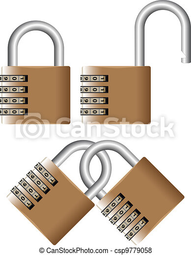 padlock with password - csp9779058