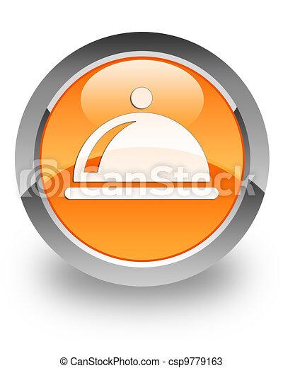 Restaurant glossy icon - csp9779163