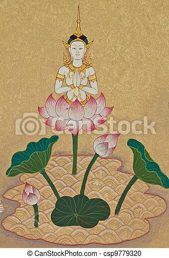 deusas, budismo - csp9779320
