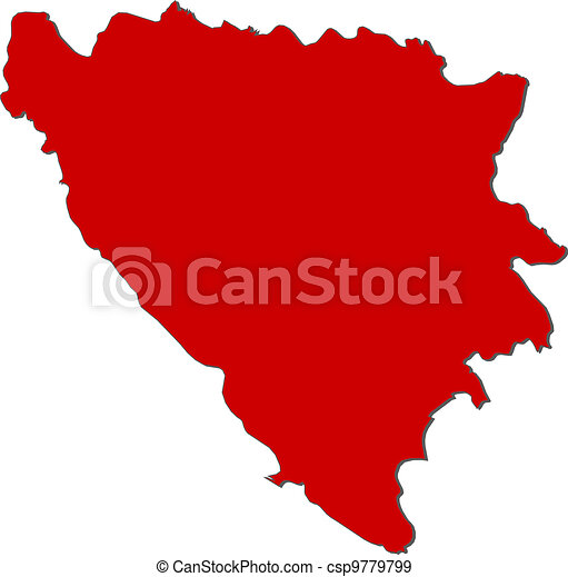 Map of Bosnia and Herzegovina - csp9779799