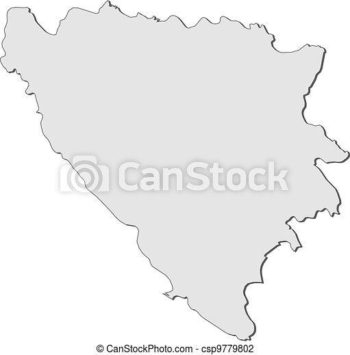 Map of Bosnia and Herzegovina - csp9779802