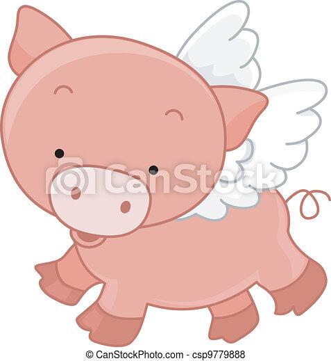 Flying Pig - csp9779888