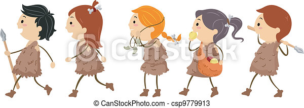 Stone Age Kids - csp9779913