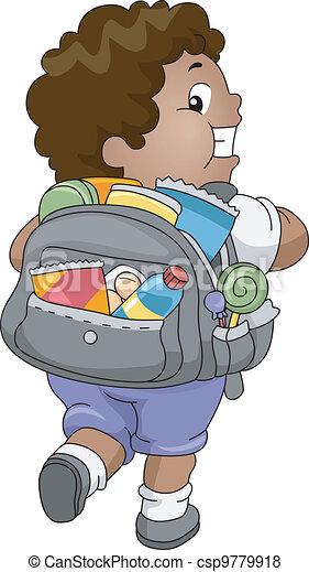 Bag of Snacks - csp9779918