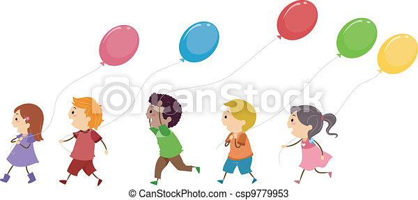 Kids Balloons - csp9779953