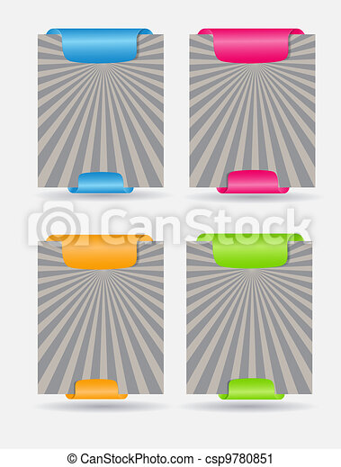 Set of trendy web banners vector illustration - csp9780851