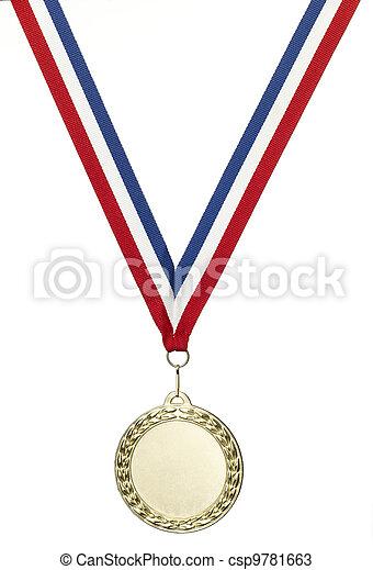 Gold olympics medal blank - csp9781663