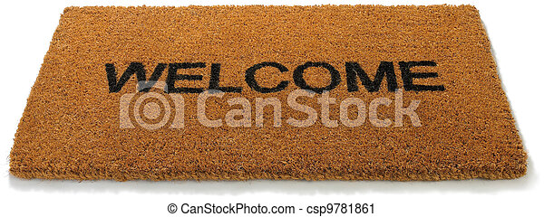Stock Photography Of Welcome Front Door Mat Isolated On A