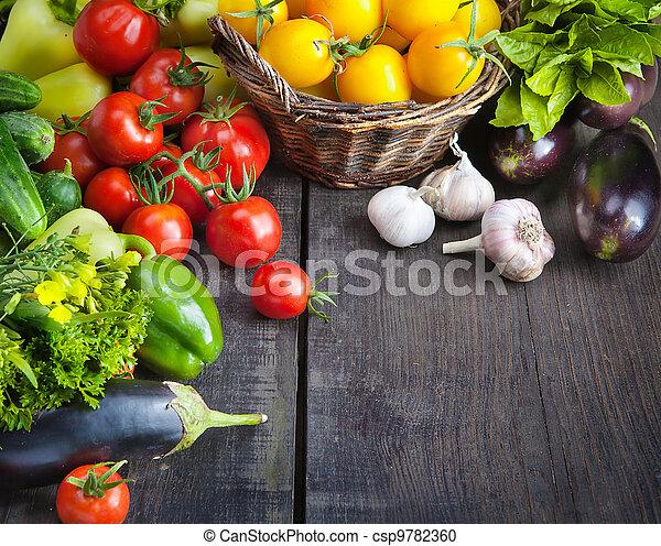 lantgård, frisk, grönsaken, frukter - csp9782360