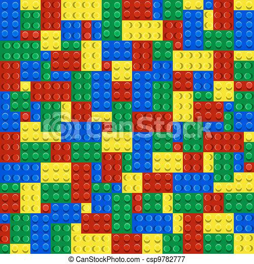 Background of plastic building blocks - csp9782777