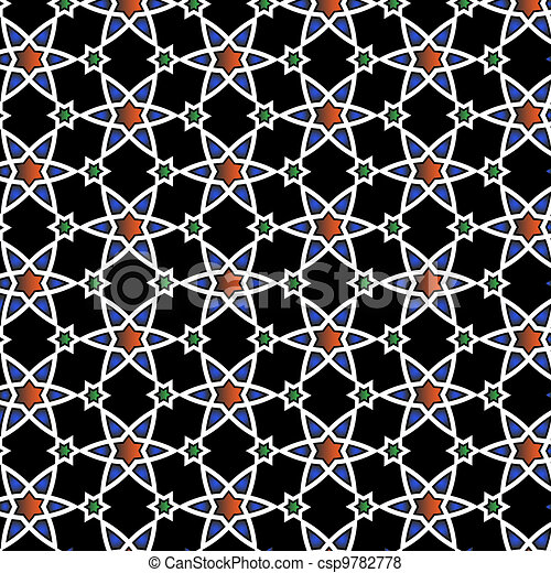 Vector  Islamic pattern  - csp9782778