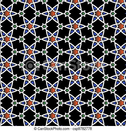 Vector  Islamic pattern  - csp9782778
