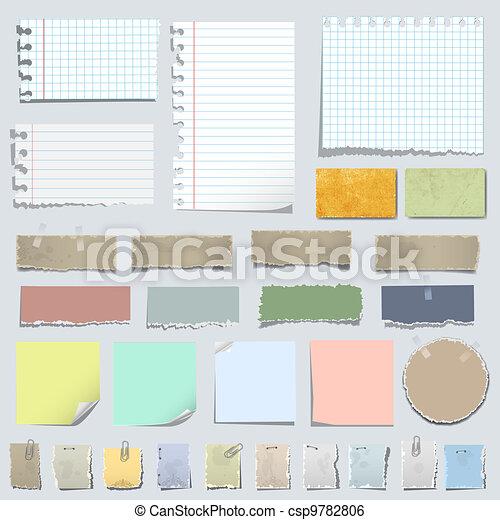 Vector set of various notes paper - csp9782806