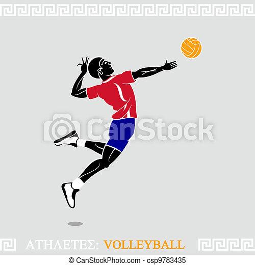 Athlete Volleyball player - csp9783435
