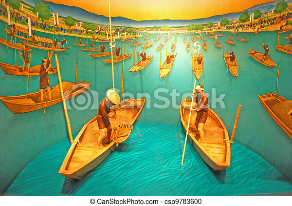 Picture Japanese rowboat - csp9783600