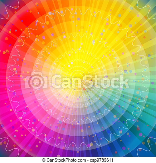 Background abstract rainbow - csp9783611
