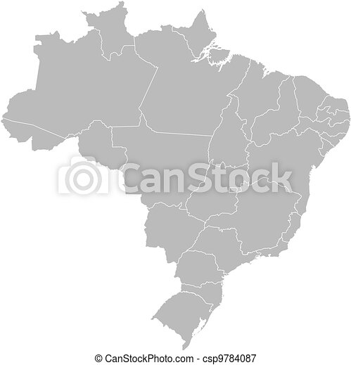 Map of Brazil - csp9784087
