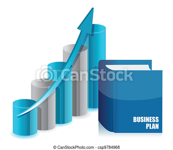 book business and graph chart - csp9784968