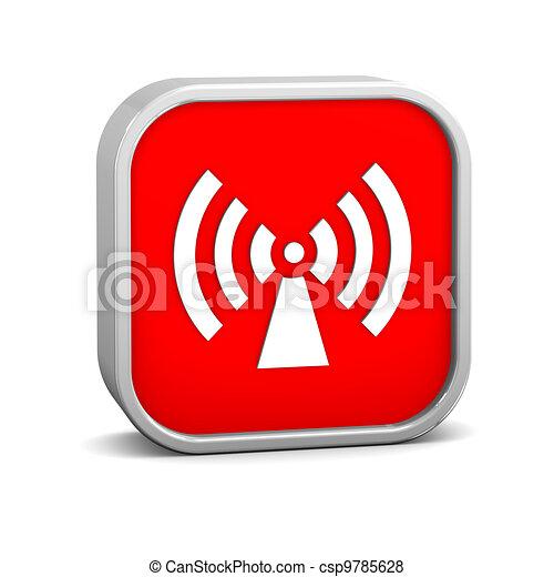 Non ionizing radiation sign - csp9785628