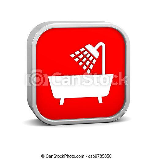 Shower sign - csp9785850