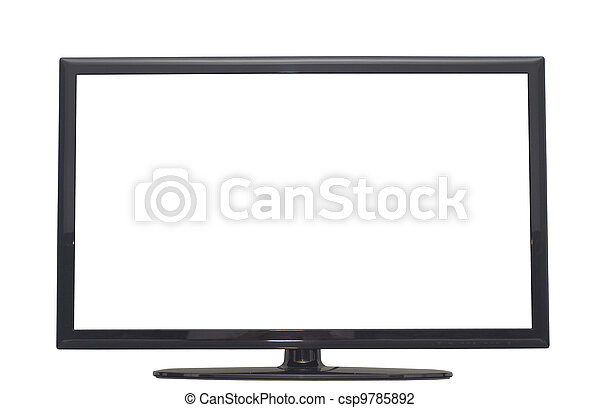 isolated flat screen tv or computer monitor - csp9785892