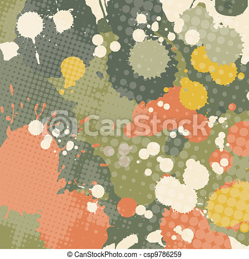 splashed grunge abstraction - csp9786259