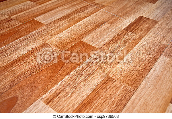 Wooden laminated floor - csp9786503