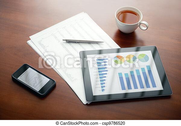 Modern business workplace - csp9786520