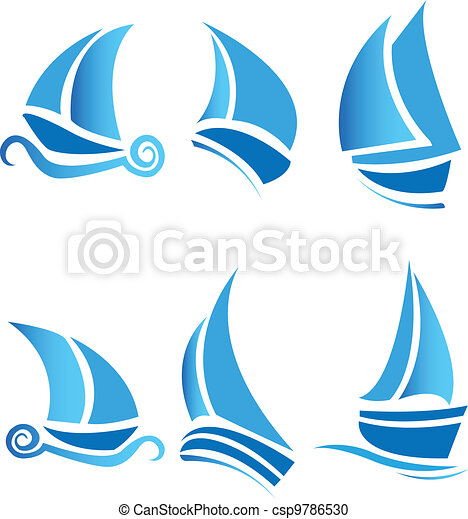 Set of boats ships or cruise - csp9786530