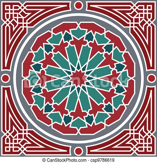 Arabesque seamless pattern - csp9786619