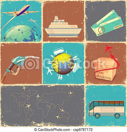 Transportation Collage - csp9787172