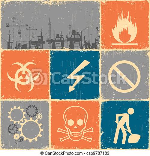 Industrial Collage - csp9787183