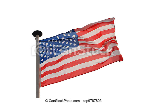 Isolated american flag - csp9787803