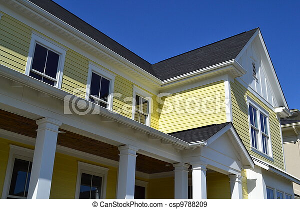 Detail of a Newly Built House - csp9788209