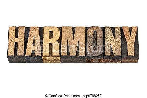 harmony word in wood type - csp9788283