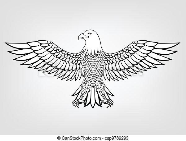 Vectors of Eagle mascot - Vector Illustration Of Eagle mascot ...